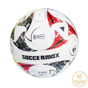 Ballon de Football – Polyester – Rouge/Noir/Blanc